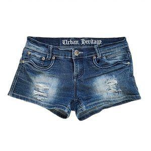 4/$30 Urban Heritage Low Rise Denim Shorts Size 3